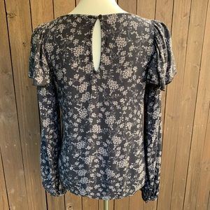 hinge Tops - Hinge | Size Small Printed Ruffle Blouse